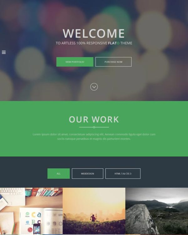 25+ Best Flat Design Website Templates