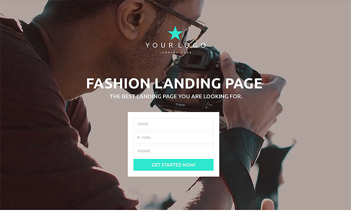 Fashion Responsive Landing Page Template