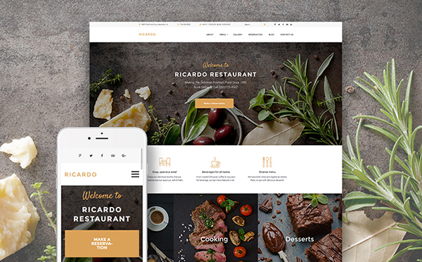 European Food WordPress Theme
