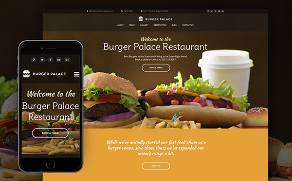 Fast Food Restaurant WP Theme