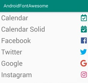 Android Font Awesome Library