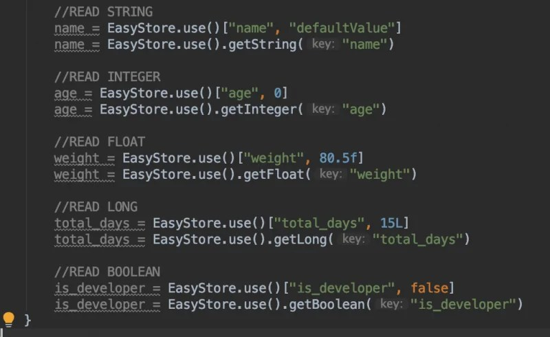 EasyStore Preference Library