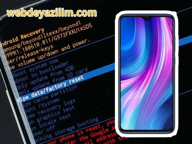 XIAOMI Redmi Note 8 Pro Format Atma