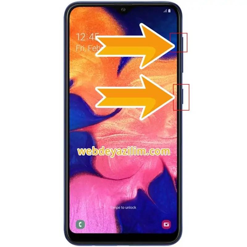 Samsung Galaxy A10 Format Atma