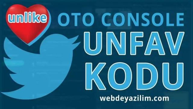Toplu Twitter Beğeni Silme Kodu