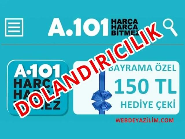 A101 Hediye Çeki Dolandırıcılığı 2020