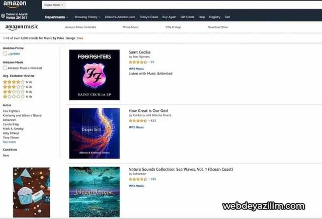 Amazon Müzik - Müzik İndirme Sitesi
