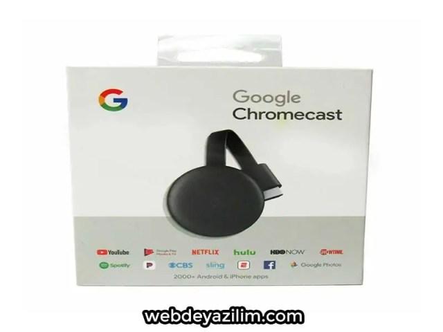 Google Chromecast Ürünü