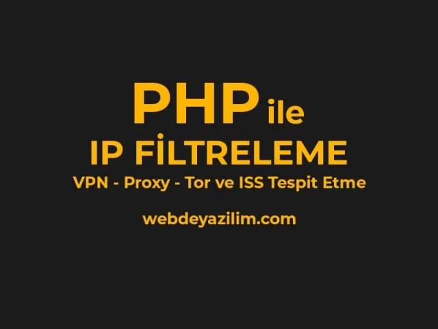 php ile ip bulma