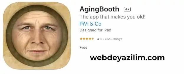 agingbooth ios uygulama