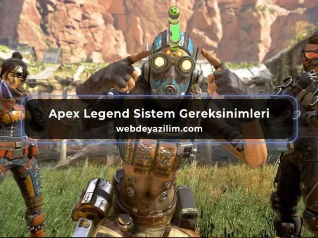 Apex Legend Sistem Gereksinimleri