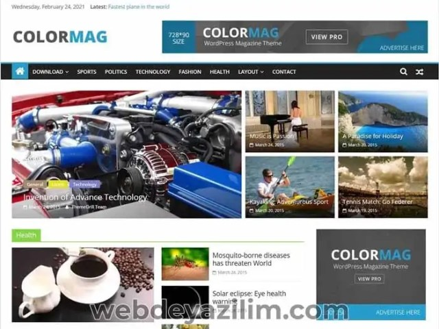 Colormag WordPress Teması