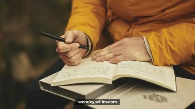 Detaylı yazmaya özen gösterin