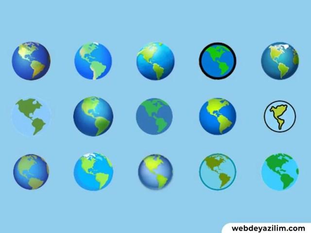 Dünya Emojisi 🌍 Dünya Emojisi Kopyalama ve Yapımı