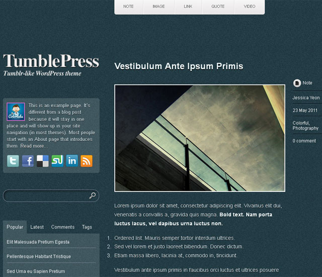 15 magníficos temas WordPress responsivos gratis.