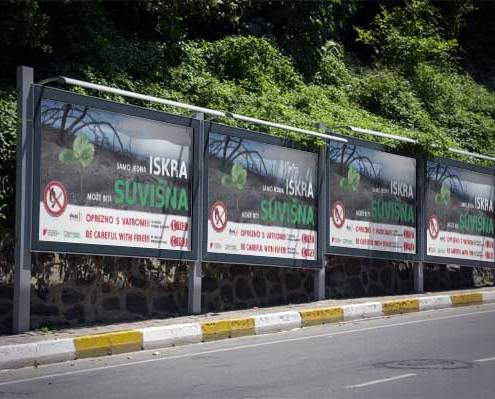 Dizajn kampanja za protupožarnu sezonu izrada jumbo plakata
