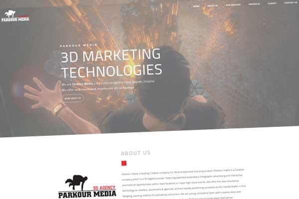 one page dizajn