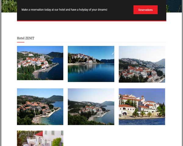 web stranice za hotel galerija
