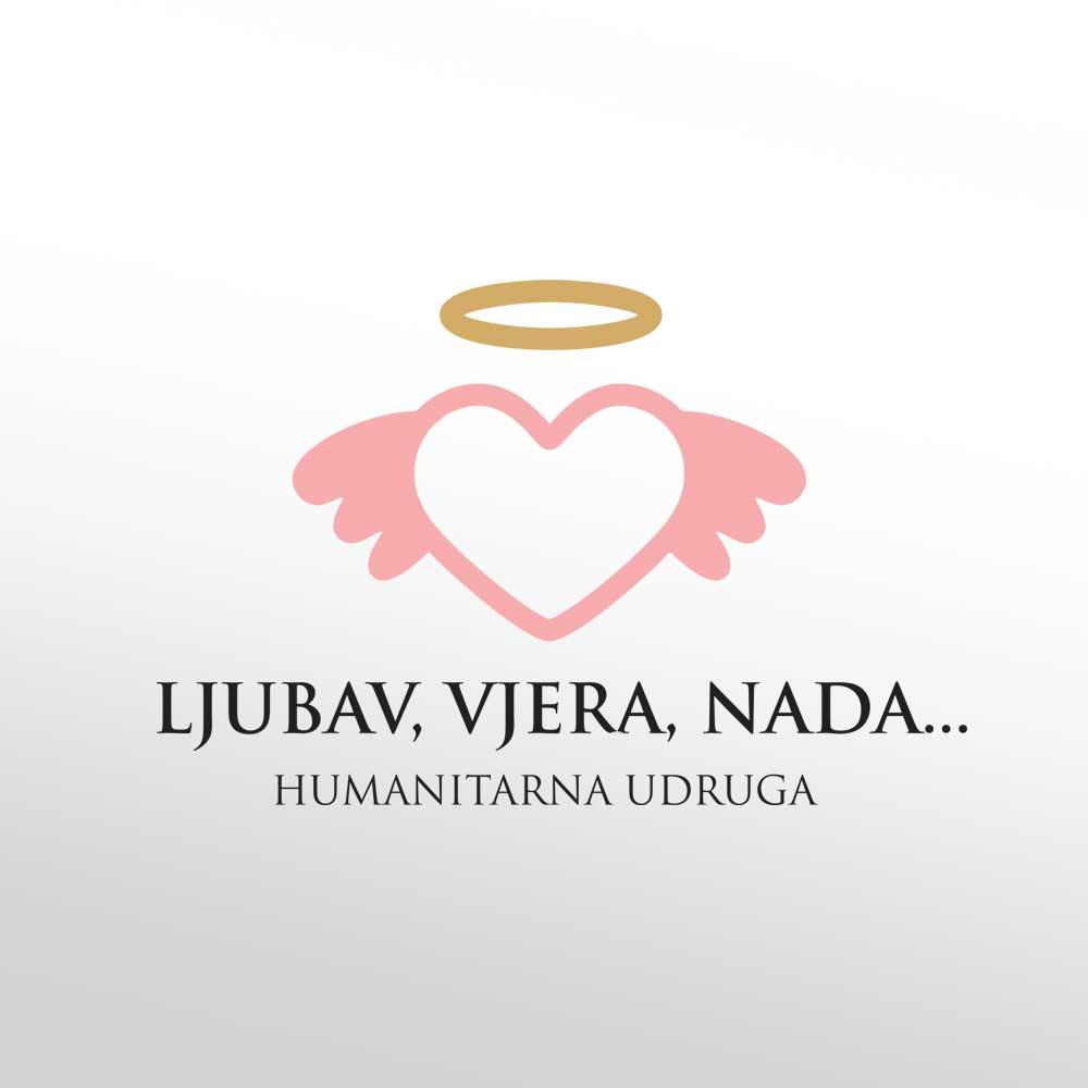 Logotip za udrugu Ljubav, vjera, nada