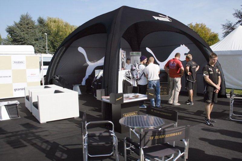 Aktivacija sponzorstava šator