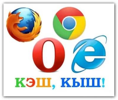 очистить кэш браузера