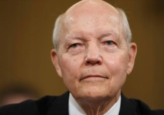 Internal Revenue Service Commissioner John Koskinen faces the House Ways and Means Committee on their continuing probe of whether tea party groups were improperly targeted for increased scrutiny by the IRS, on Capitol Hill in Washington, Friday, June 20, 2014. The IRS asserts it can't produce emails from seven officials connected to the tea party investigation because of computer crashes, including the emails from Lois Lerner, the former IRS official at the center of the investigation who has invoked her Fifth Amendment right at least nine times to avoid answering lawmakers' questions. (AP Photo/J. Scott Applewhite)