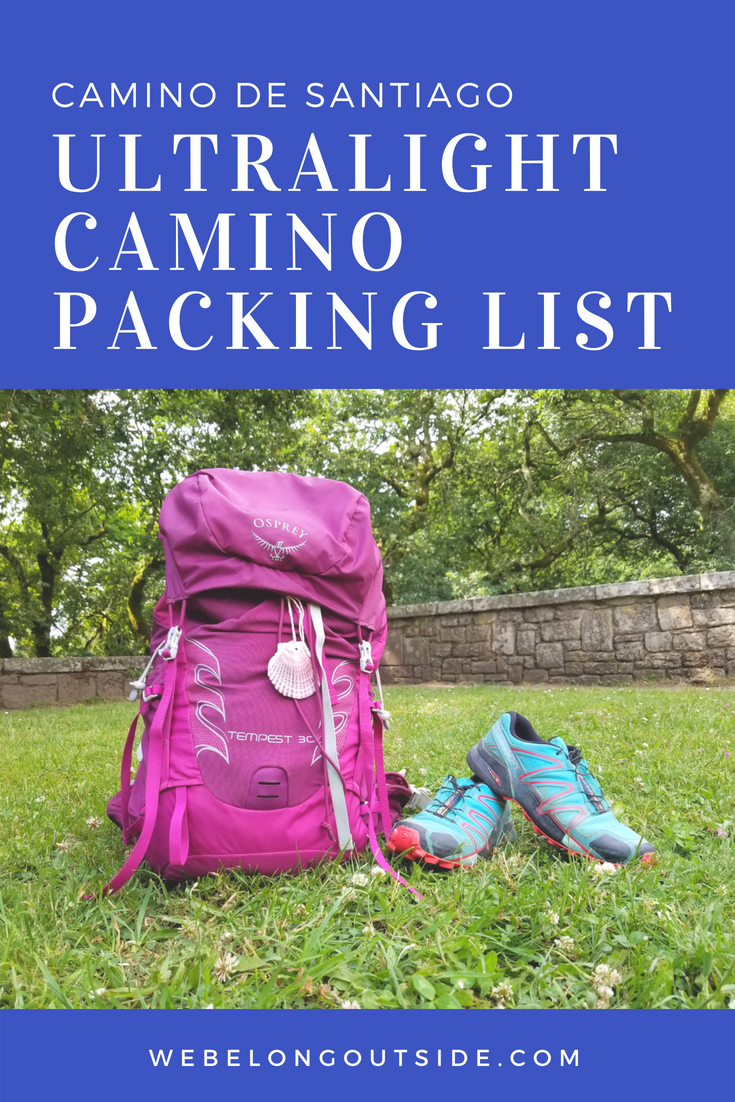 Ultralight Camino Packing List
