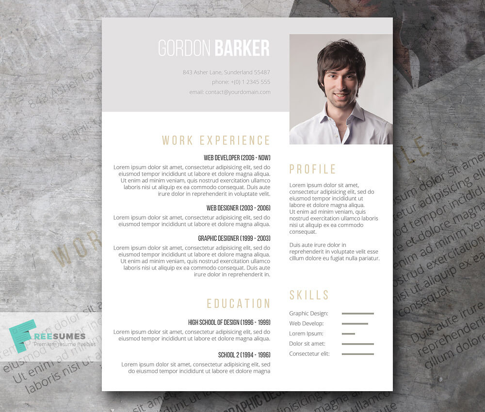 The Best CV   Resume Templates  50 Examples        Web eMailing resume template for word