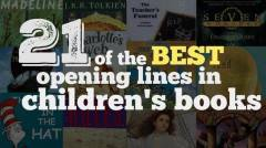 21 of the Best Opening Lines in Children's Books - WeAreTeachers