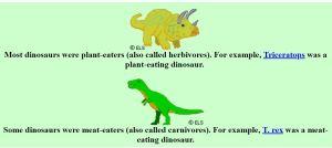 Dinosaurs, Dinosaurs, level 4-6, WebEnglish.se