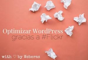 optimizar wordpress con flickr