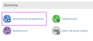 dominios complemento