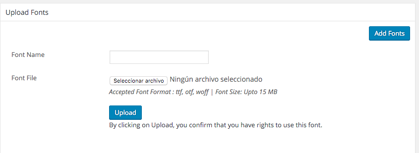 instalar tipografia en wordpress