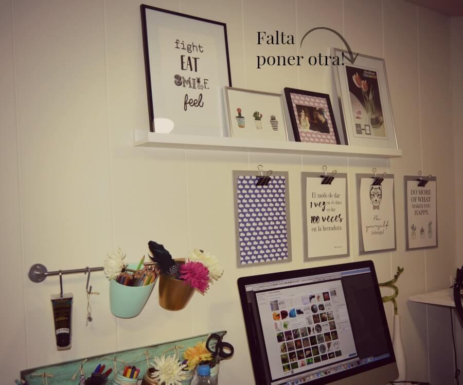 escritorio con wall decor