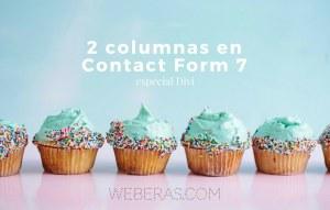 dos columnas en contact form 7