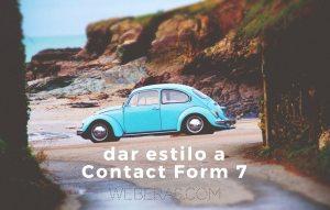 dar estilo a contact form 7