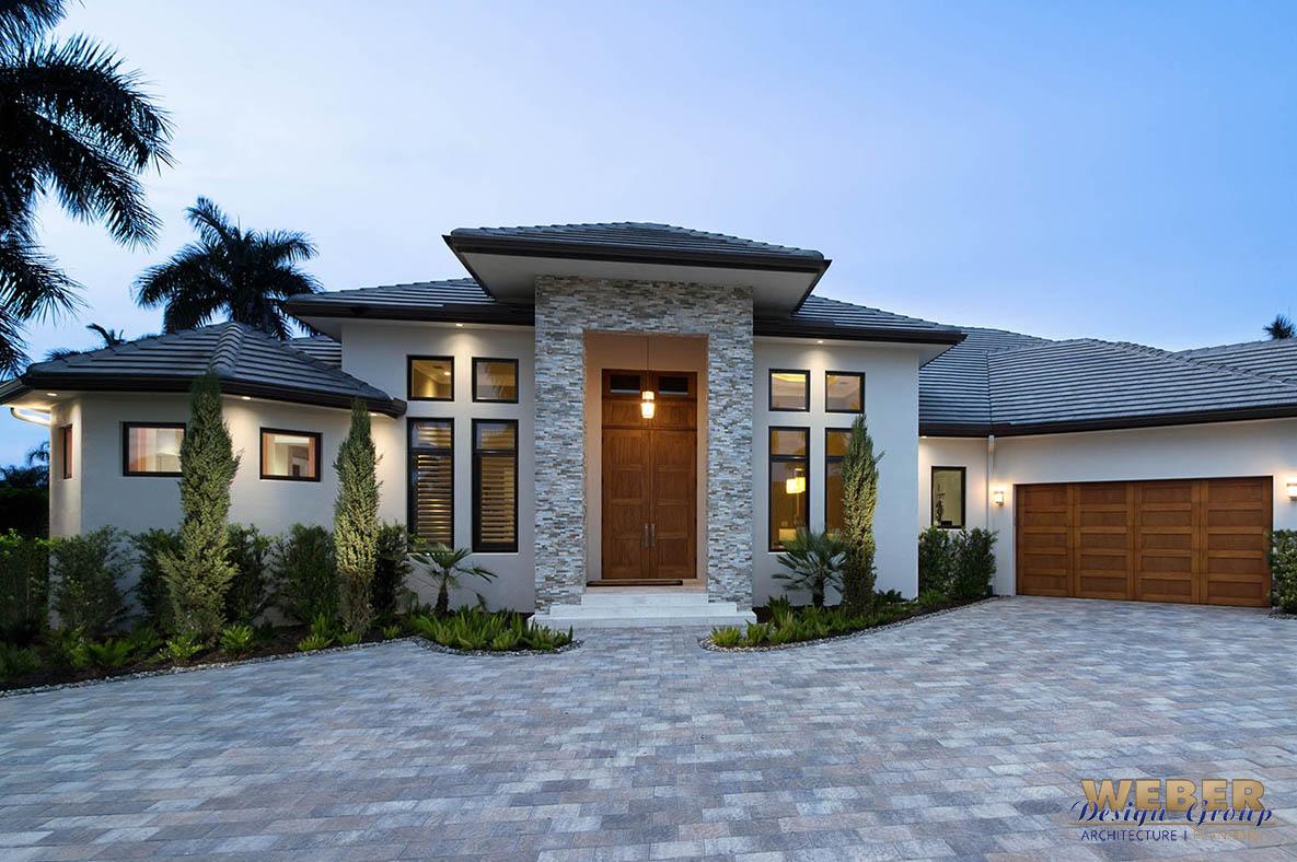 Contemporary House Plan: 1 Story Coastal Contemporary
