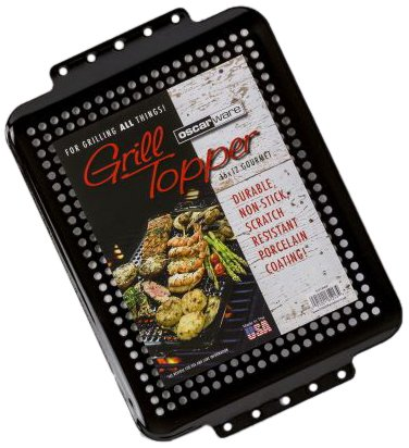 Oscarware 61213HGP-B Gourmet Porcelain Coated Grill Topper, 16 by 12-Inch