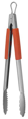 Mr. Bar-B-Q 02802X Easy Grip Stainless Steel Tongs