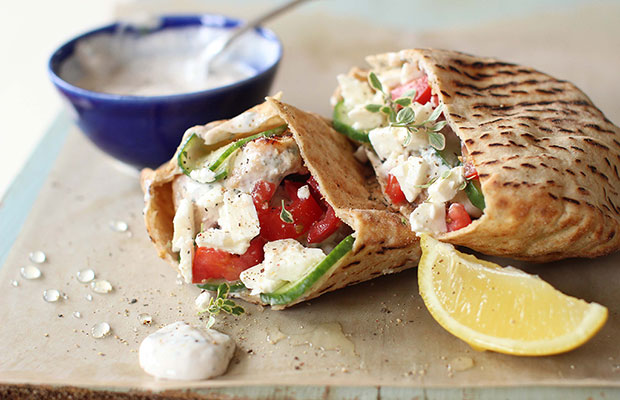 Grilled Greek Chicken Pita Pockets