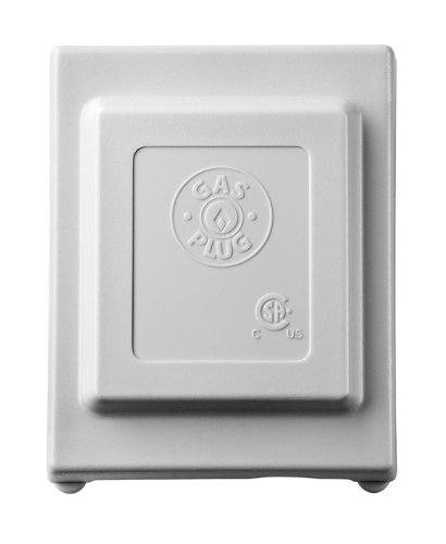 Burnaby Manufacturing G0101-2#-5W-50 Gas Plug 2# Gas Outlet Box with 1/2-Inch Inlet and 3/8-Inch Outlet, White PVC Enclosure