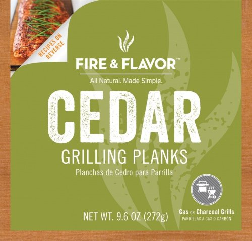 Fire & Flavor 4 Count Single Serving Grilling Plank, 6 by 6-Inch, Cedar