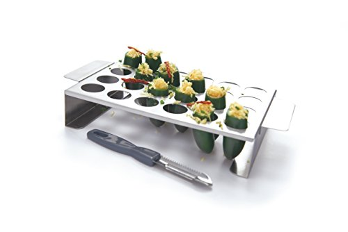 GrillPro 41555 Stainless Steel Pepper roasting Rack for Grill