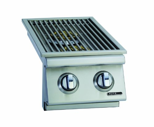 Bull Outdoor Products 30009 Natural Gas Slide-In Double Side Burner, Front and Back Design