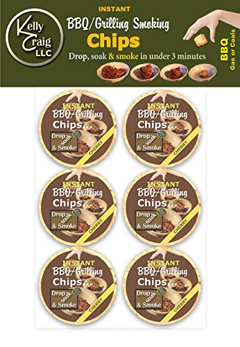 Kelly Craig 6-Pack Instant BBQ/Grilling Smoking Chips, Cherry