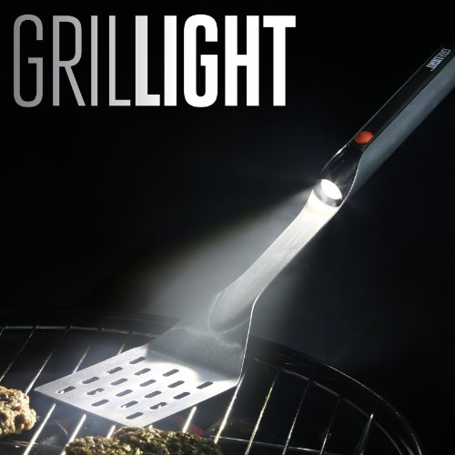Grillight 1300813 Stainless Steel LED Grilling Tongs