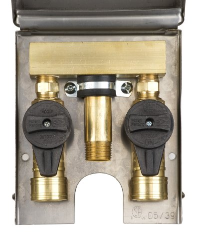 Gas Plug Double Gas Outlet Stainless Steel Box with Bottom Inlet Connection