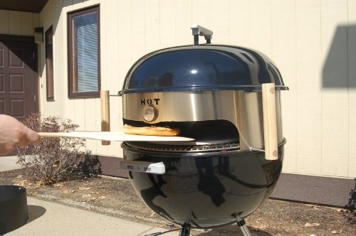 KettlePizza Deluxe USA Kit for 18.5-Inch and 22.5-Inch Kettle Grills