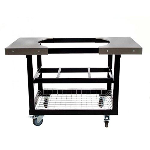 Primo 310 Cart With Basket and Side Tables With Casters for Primo Oval XL Grill