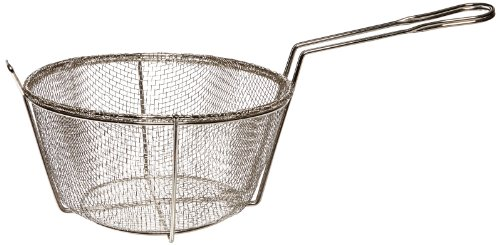 Adcraft BFSM-950 10″ Round Nickel Plated Steel Six Mesh Fryer Basket for H3-FP7 Pan
